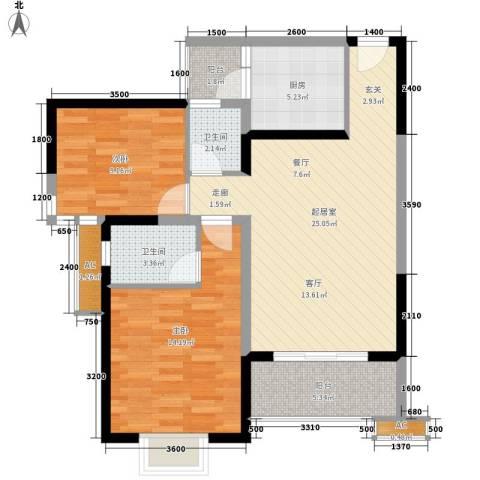 中原小区2室0厅2卫1厨99.00㎡户型图