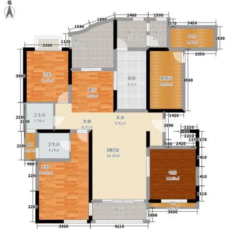 凤凰港蓝宝湾花园3室0厅2卫1厨178.00㎡户型图
