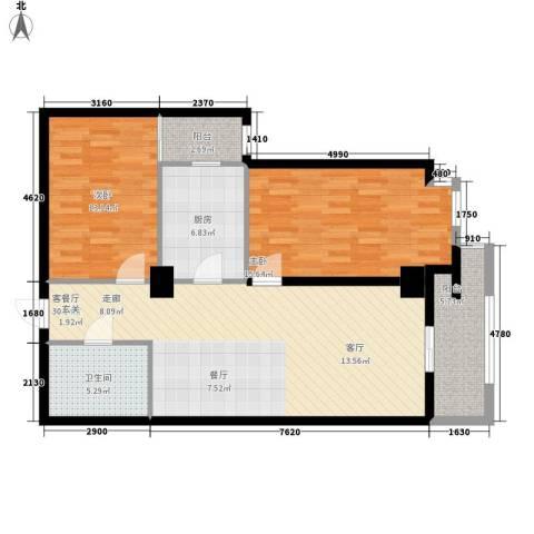 幸福逸家2室1厅1卫1厨91.00㎡户型图