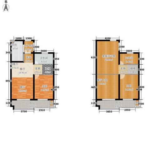 铭洋盛世钱门2室1厅2卫1厨177.39㎡户型图