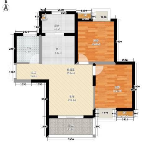 中原小区2室0厅1卫1厨90.00㎡户型图