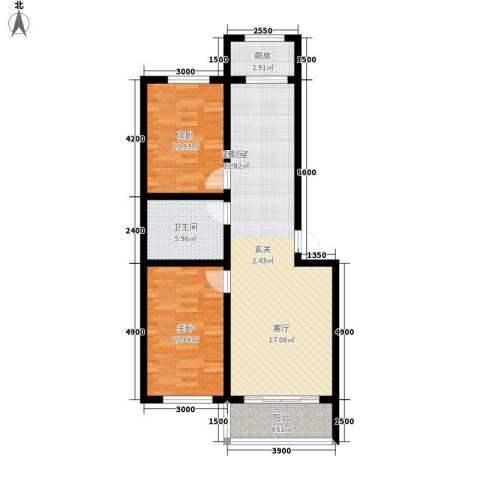 金丰.紫馨花园2室0厅1卫1厨100.00㎡户型图