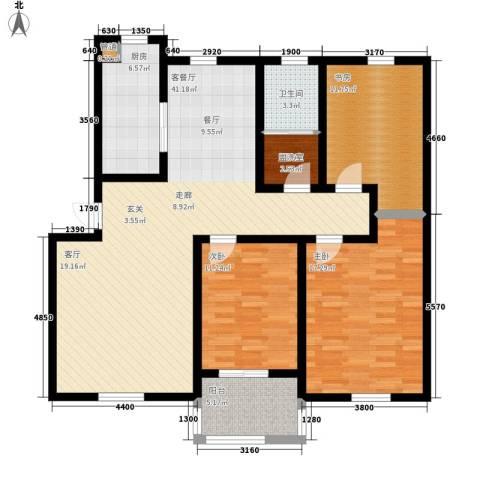 华阳山庄3室1厅1卫1厨115.00㎡户型图
