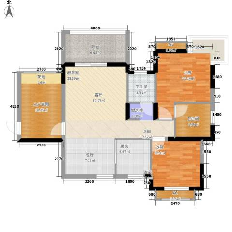 万宁东岸假日2室0厅2卫1厨113.00㎡户型图