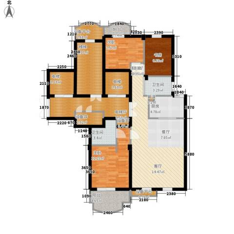 维科龙湾府3室1厅2卫1厨122.00㎡户型图