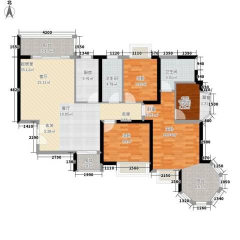 恒大名都2室0厅2卫1厨144.00㎡户型图