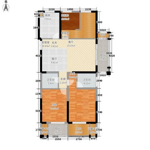 佳源广场2室0厅2卫1厨122.00㎡户型图