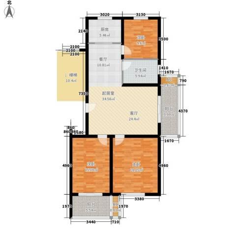 明佳苑3室0厅1卫1厨145.00㎡户型图