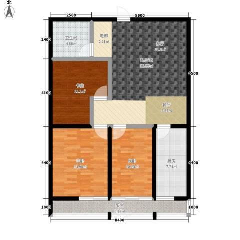 瀚景名座3室0厅1卫1厨129.00㎡户型图