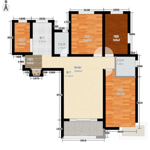 西安仪表厂101社区4室1厅2卫0厨116.00㎡户型图