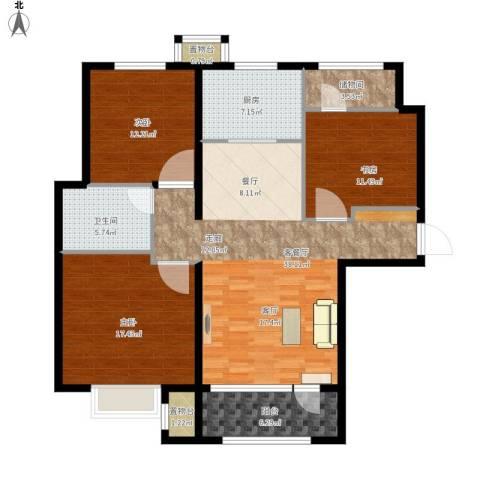 海亮公馆3室1厅1卫1厨146.00㎡户型图