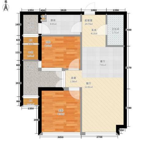 锦业时代2室0厅1卫1厨70.00㎡户型图