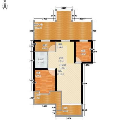 梧桐花园小区2室0厅1卫1厨80.91㎡户型图