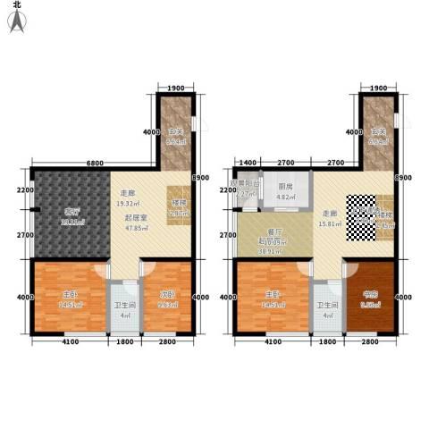瀚景名座4室0厅2卫1厨212.00㎡户型图
