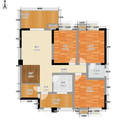 西安仪表厂101社区3室0厅2卫1厨137.00㎡户型图