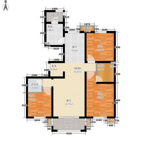 西安仪表厂101社区3室0厅2卫1厨154.00㎡户型图