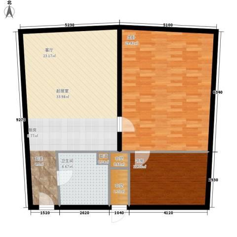 深圳湾2室0厅1卫0厨92.00㎡户型图