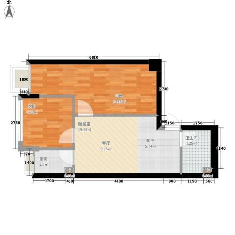 锦业时代2室0厅1卫1厨61.00㎡户型图