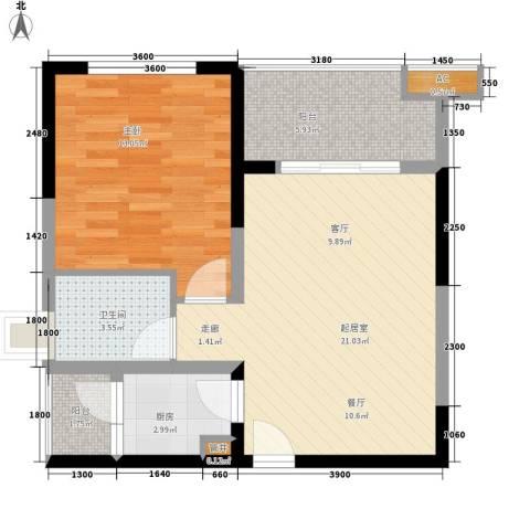 青门新区1室0厅1卫1厨71.00㎡户型图