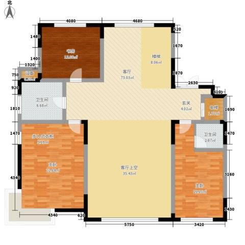 中润华侨城3室1厅2卫0厨190.00㎡户型图