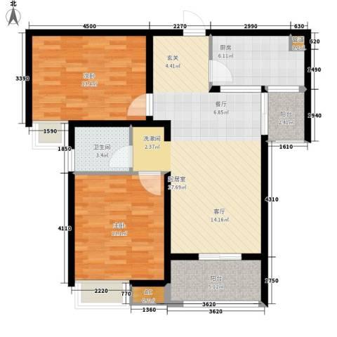 香格里拉花园2室0厅1卫1厨104.00㎡户型图