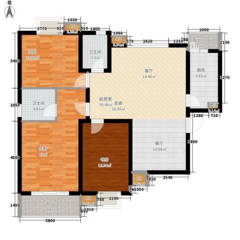 伟世佳大厦3室0厅2卫1厨143.00㎡户型图