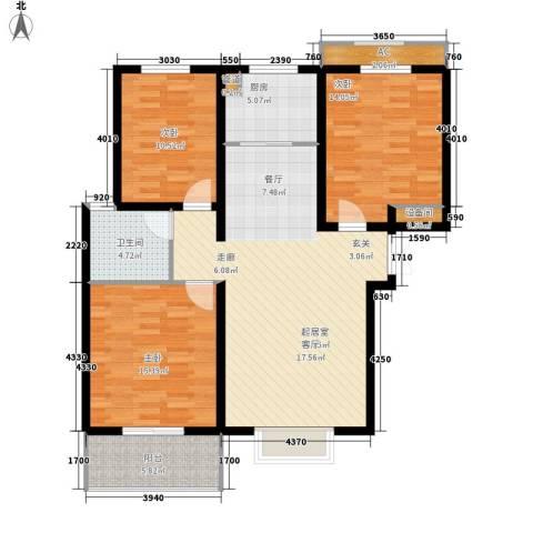 香格里拉花园3室0厅1卫1厨131.00㎡户型图