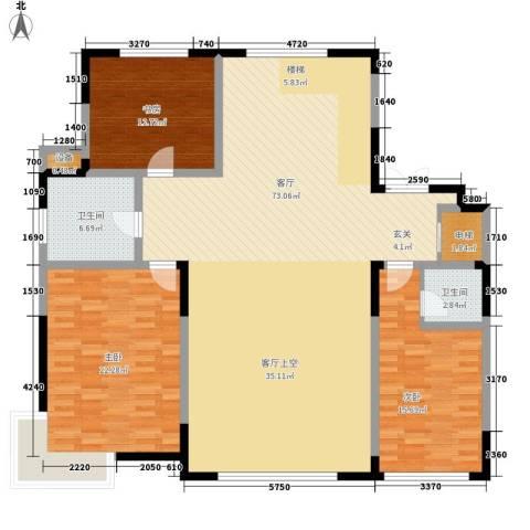 中润华侨城3室1厅2卫0厨188.00㎡户型图