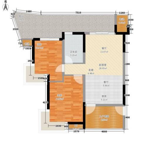 团省委家属院2室0厅1卫0厨126.00㎡户型图