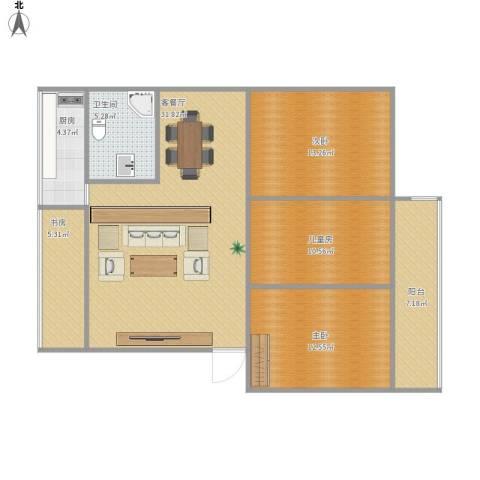 中山大学蒲园区4室1厅1卫1厨119.00㎡户型图