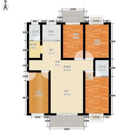 北门新苑3室0厅2卫1厨149.00㎡户型图
