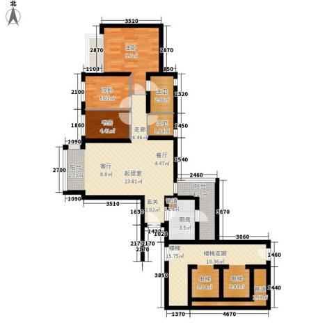 美居荷园3室0厅0卫1厨89.00㎡户型图