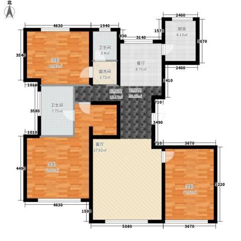 御龙湾3室0厅2卫1厨177.00㎡户型图