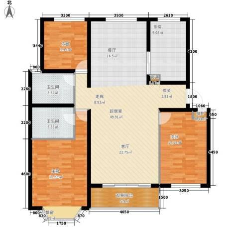 团省委家属院3室0厅2卫1厨167.00㎡户型图