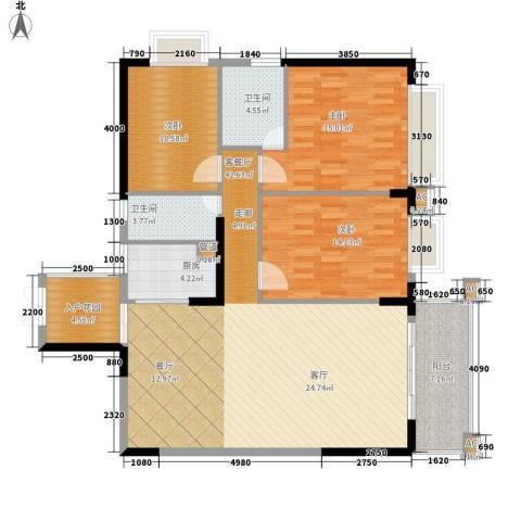 雍华庭3室1厅2卫1厨149.00㎡户型图