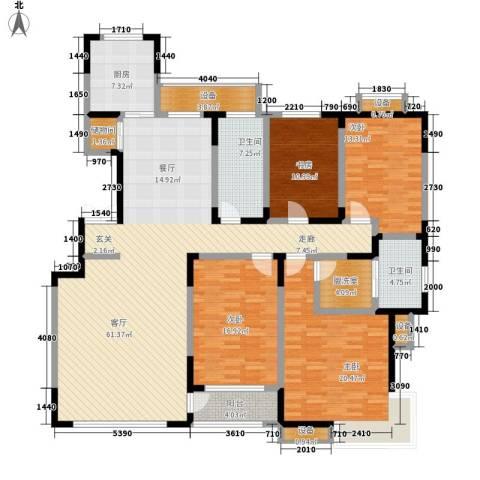 中润华侨城4室1厅2卫1厨227.00㎡户型图