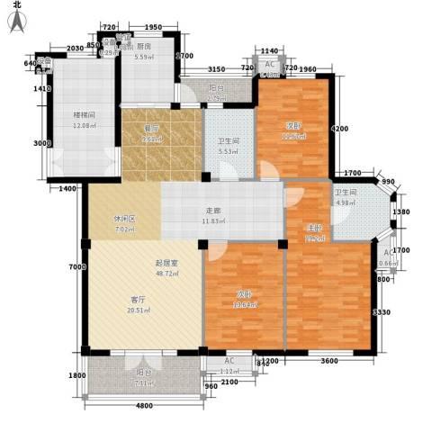 东台公寓3室0厅2卫1厨139.00㎡户型图