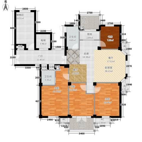 东台公寓4室0厅2卫1厨141.00㎡户型图