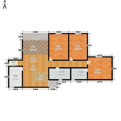 丽城旅游小区3室0厅2卫1厨253.00㎡户型图