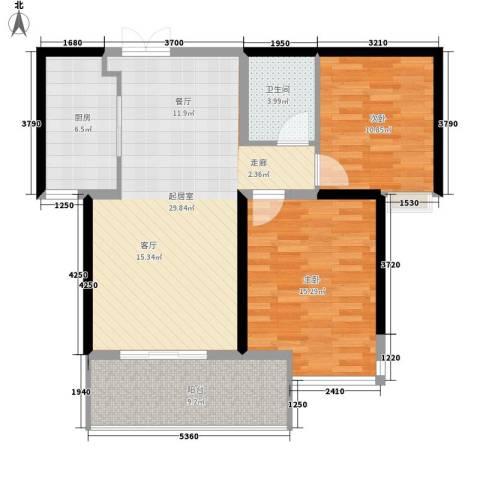银象花园2室0厅1卫1厨89.00㎡户型图