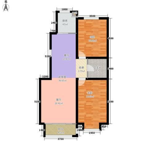 吉祥馨苑2室0厅1卫1厨114.00㎡户型图