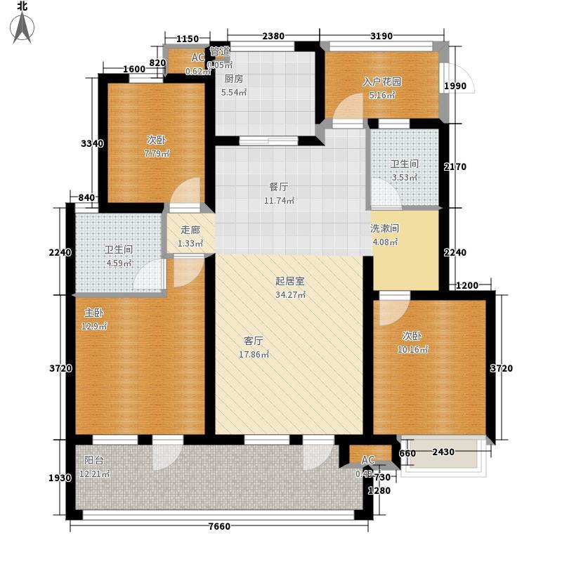 朗诗未来街区113.00㎡三期8、11#面积11300m户型