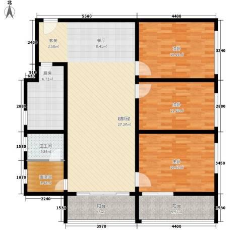 华宇静园3室0厅1卫1厨113.00㎡户型图