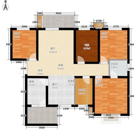 中环国际城4室0厅2卫1厨142.00㎡户型图