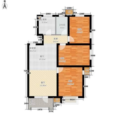 保利花园3室0厅1卫1厨115.00㎡户型图