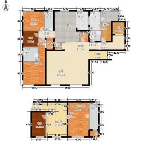 中央悦城5室0厅4卫1厨206.00㎡户型图
