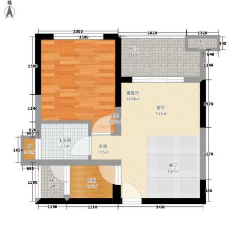 877厂家属院1室1厅1卫1厨59.00㎡户型图