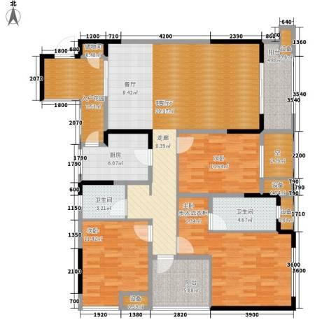 旭辉新里城3室1厅2卫1厨114.28㎡户型图