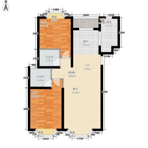877厂家属院2室1厅2卫1厨123.00㎡户型图