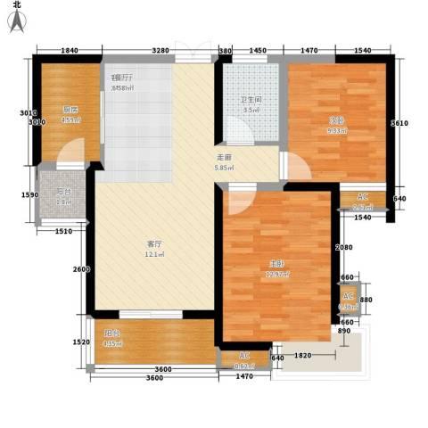 877厂家属院2室1厅1卫1厨91.00㎡户型图